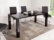 """Table repas """"Luna"""" en MDF laqué - Noir"""