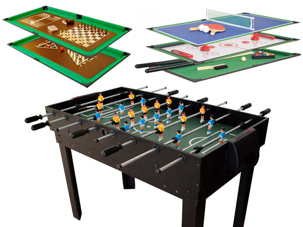 Table multi jeux leo x x m 68022 for Table de multi