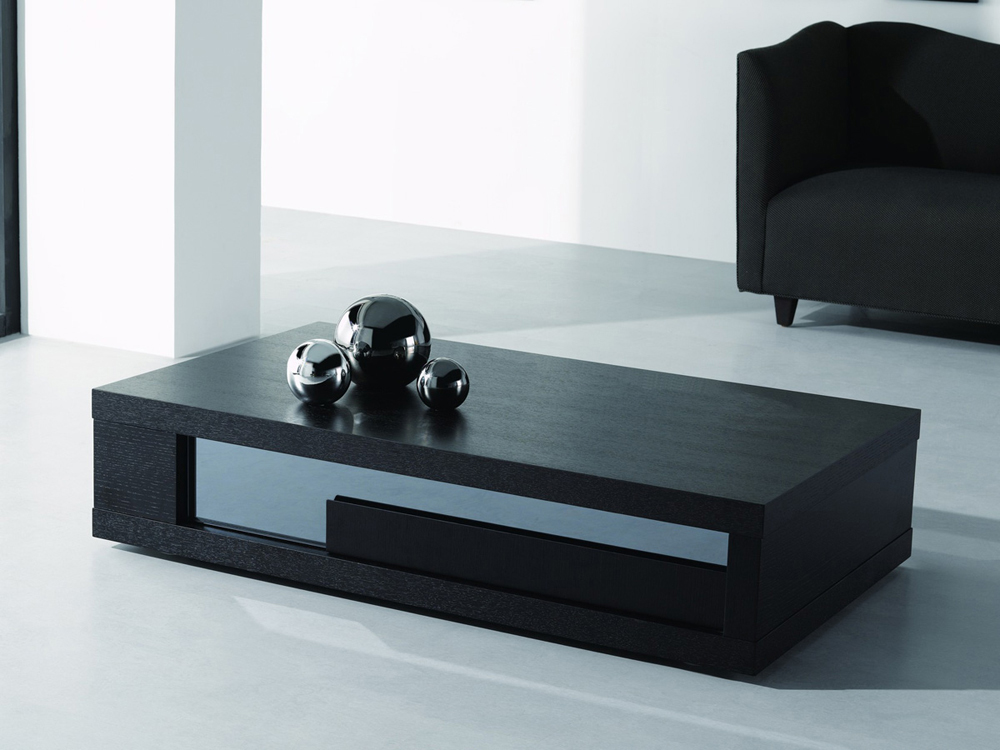 Table basse Moli - 120 x 60 x 32.5 cm - Noir