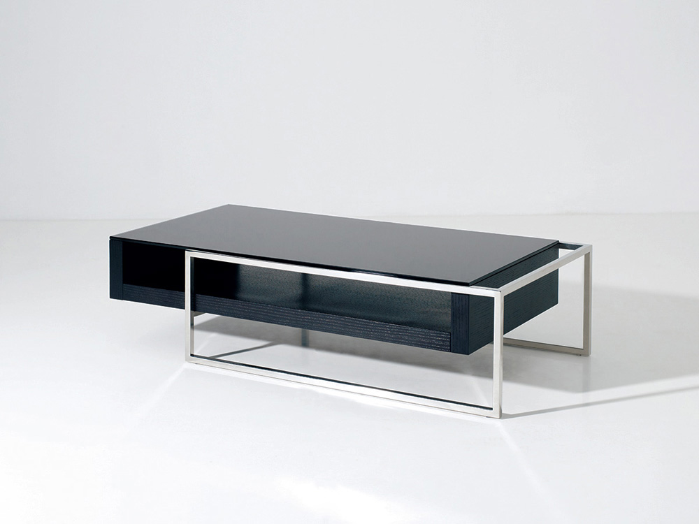 Table basse Julie - 130 x 63.8 x 33.7 cm - Noir