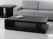 "Table basse ""Lisa"" - 140 x 80 x 37.5 cm - Noir"
