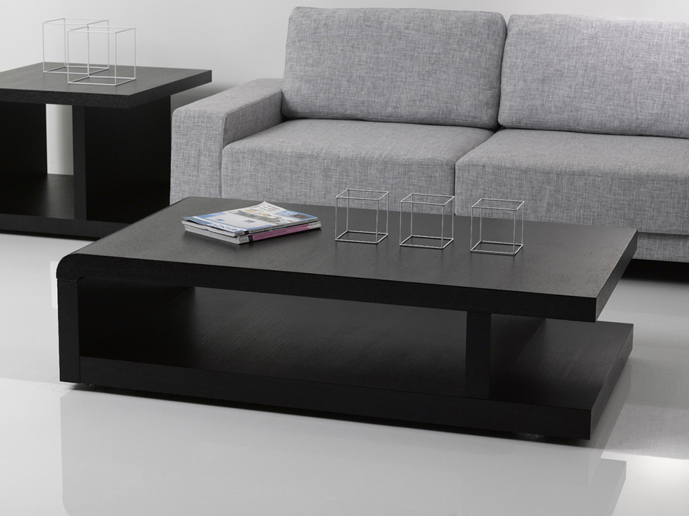 table basse lisa 140 x 80 x 37 5 cm noir 68082 68084. Black Bedroom Furniture Sets. Home Design Ideas