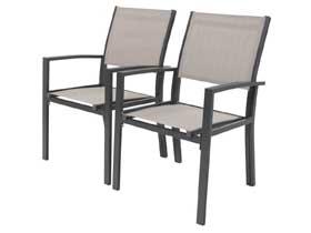 Chaise jardin Alu Textilène