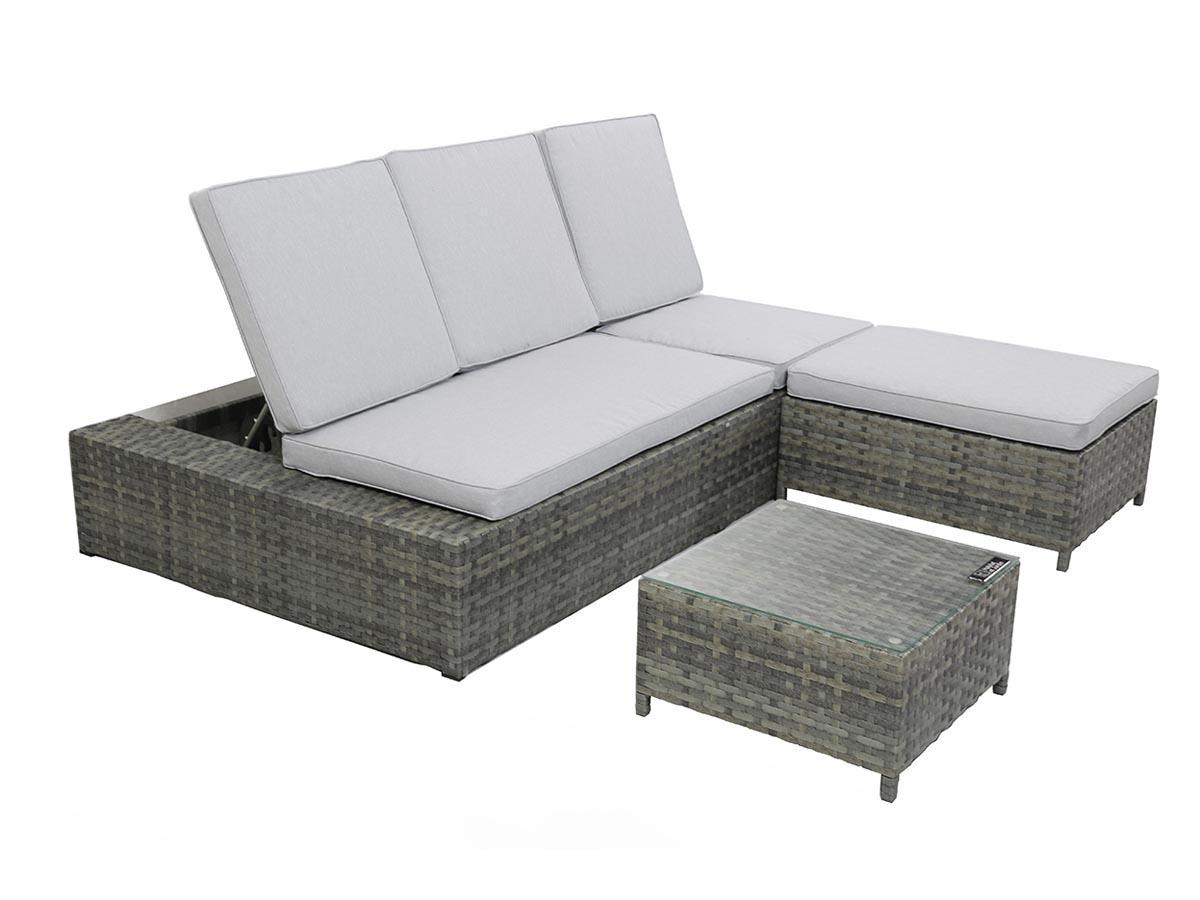 Salon modulable r sine for Canape d angle resine tressee salon de jardin noir bali