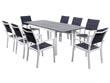 """Salon de jardin """"Canaries 8"""" - Phoenix - Blanc/Gris foncé - 1 Table + 8 Fauteuils"""