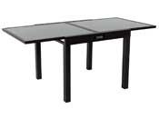 "Table de jardin aluminium extensible ""Porto 8"" - Phoenix - Noir"