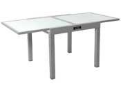 "Table de jardin aluminium extensible ""Porto 8"" - Phoenix - Argent"
