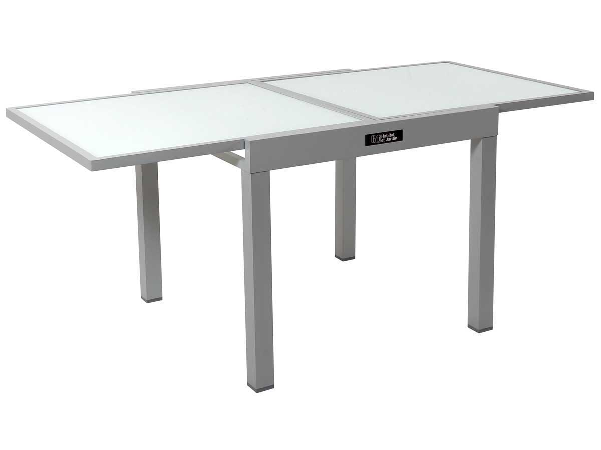 table de jardin aluminium extensible porto 8 phoenix argent 86519 86521. Black Bedroom Furniture Sets. Home Design Ideas