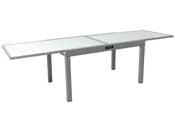 "Table de jardin aluminium extensible ""Porto 10"" - Phoenix - Argent"