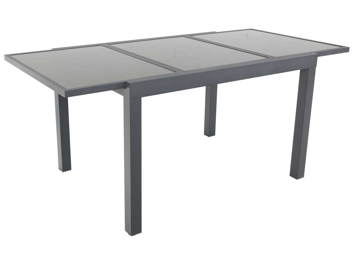 Table de jardin extensible aluminium tropic 8 phoenix anthracite 86526 - Table de jardin aluminium ...