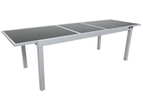 "Table de jardin extensible Aluminium ""Tropic 10"" - Phoenix - Argent"