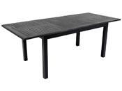 "Table de jardin Alu extensible ""Canaries 8"" - Seychelles - Noir"