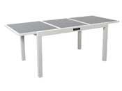"Table de jardin ""Brazil"" - Phoenix - 140/200 x 90 x 75 cm - Blanc"