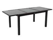 """Table de jardin """"Brazil"""" - Phoenix - 140/200 x 90 x 75 cm - Noir"""