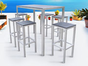 "Bar de jardin m�tal Tenerife - ""Seychelles"" - Noir"