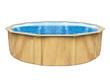 """Piscine acier ronde aspect bois """"Punta cana"""" - Ø 4.60 x Ht 1.20 m"""