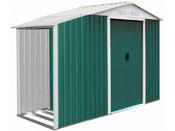 """Abri de jardin métal """"Rosas"""" 2,71 m² avec abri bûche"""