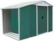 """Abri de jardin métal """"Rosas"""" 4,07 m² avec abri bûche"""