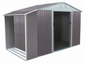"Abri de jardin métal ""Dallas"" 5,29 m² avec abri bûche"