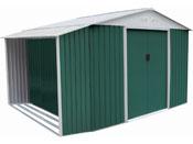 """Abri de jardin métal """"Rosas"""" 7,06 m² avec abri bûche"""