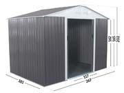 Abri jardin métal  Dallas - 5,29  M²