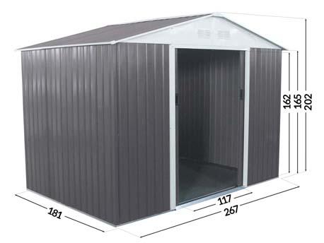 """Abri jardin métal """"Dallas""""- 5,29  M²"""