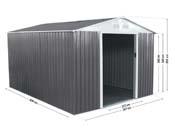 """Abri jardin métal """"Dallas"""" - 8,84  m²"""