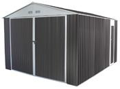 """Garage métal """"Nevada"""" avec porte battante - 15,36 m²"""
