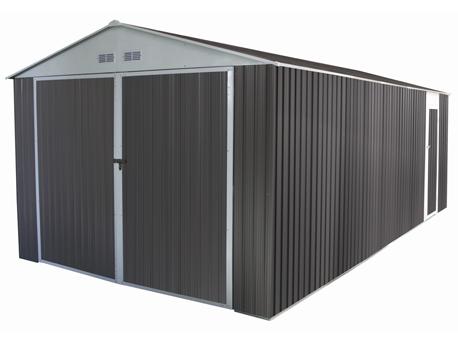 "Garage métal ""Nevada"" avec porte battante - 18,56 m² - 3,20 x 5,80 x 2,35 m"