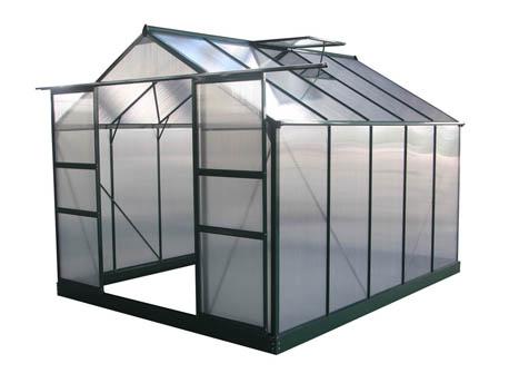 "Serre jardin polycarbonate ""Dahlia"" Vert Sapin 7,67 m²"