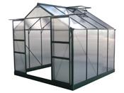 "Serre jardin polycarbonate ""Dahlia"" Vert Sapin 6,15 m²"