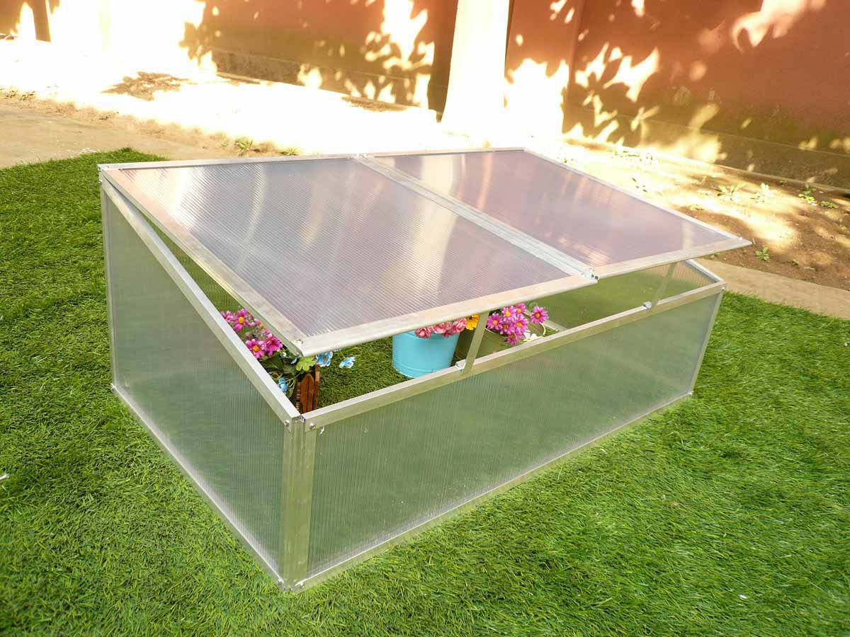 Mini serre en polycarbonate 108 x 56 x 40 cm 86356 - Serre polycarbonate transparent ...