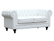 """Canapé fixe Chesterfield """"Aliza"""" - 2 places - Blanc"""