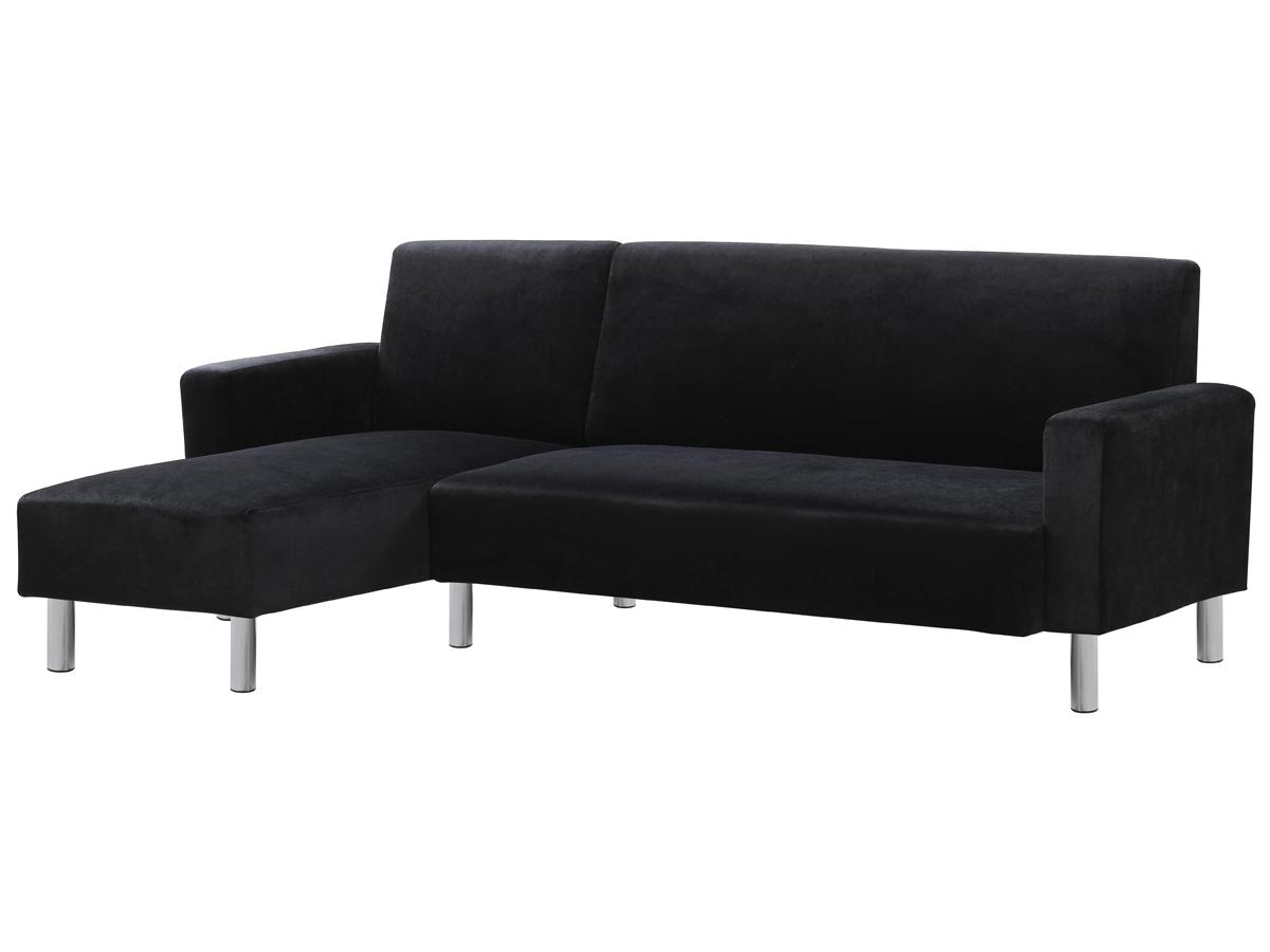 canap d 39 angle tissu r versible rio noir ebay. Black Bedroom Furniture Sets. Home Design Ideas