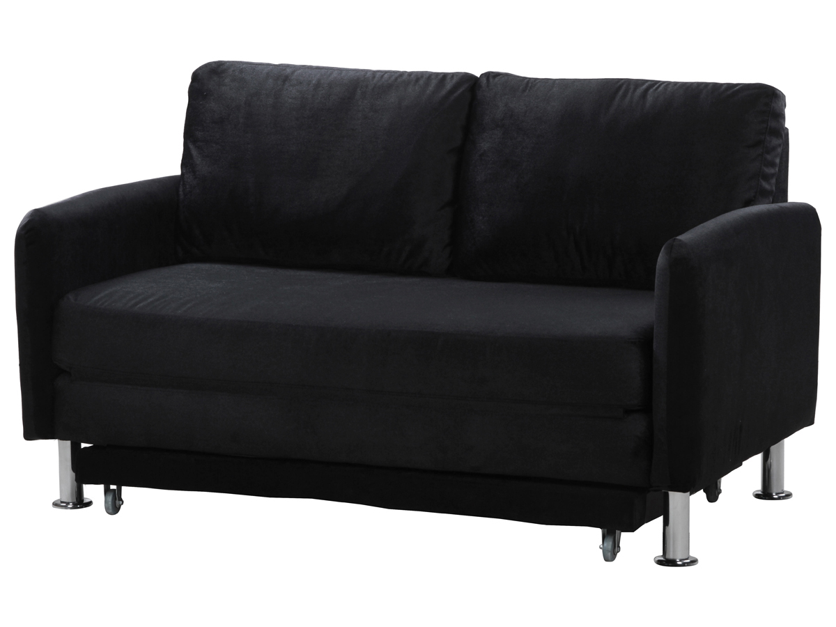 Canape convertible rio 1 2 places noir ebay for Canape habitat convertible