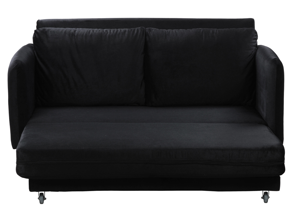 canape convertible rio 1 2 places noir ebay. Black Bedroom Furniture Sets. Home Design Ideas