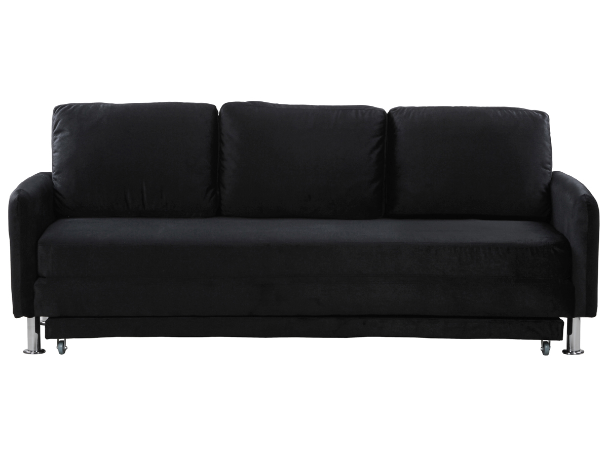 canape convertible rio 3 places noir ebay. Black Bedroom Furniture Sets. Home Design Ideas