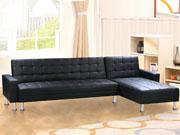 Canapé d'angle convertible  Theo  - Noir - 5 Places