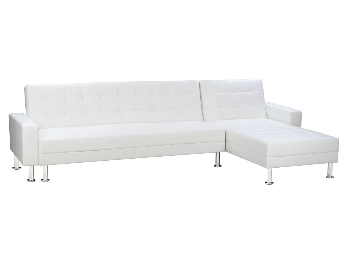 Canap D 39 Angle Convertible Theo 5 Places Blanc 78583