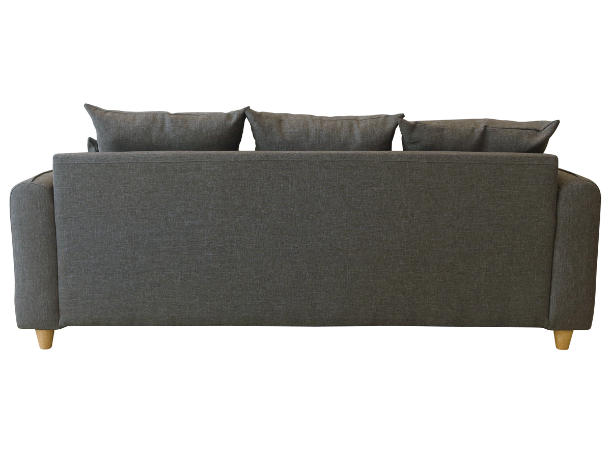 Canap fixe tissu aden 3 places gris - Canape fixe 3 places tissu ...