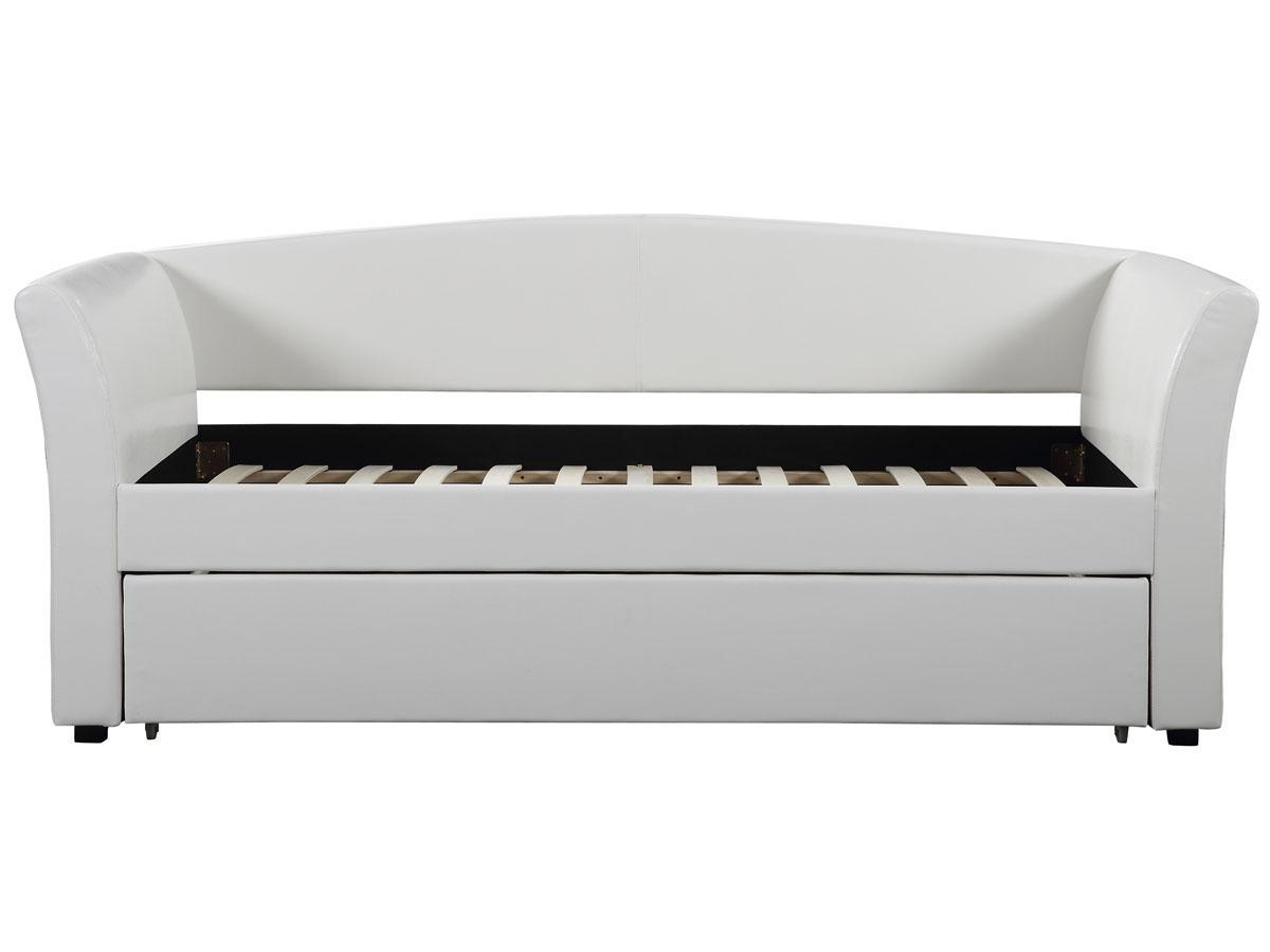 lit fany 90 x 190 cm blanc 83847. Black Bedroom Furniture Sets. Home Design Ideas