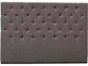 """Tête de lit capitonnée 160 cm """"Déco"""" en tissu - Taupe"""