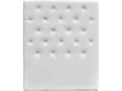 """Tête de lit capitonnée 90 cm """"Déco"""" en PVC - Blanc"""