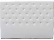 """Tête de lit capitonnée 140 cm """"Déco"""" en PVC - Blanc"""