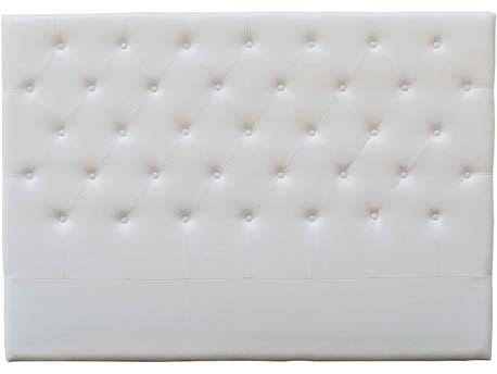 """Tête de lit capitonnée 180 cm """"Déco"""" en PVC - Blanc"""