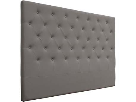 """Tête de lit capitonnée 160 cm """"Déco"""" en PVC - Gris clair"""