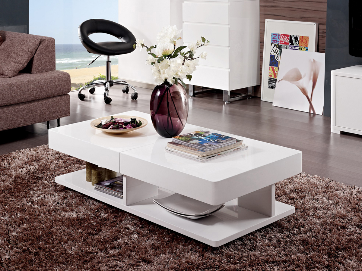 Table basse extensible rectangulaire dalia 120 x 70121 for Meuble 120x60