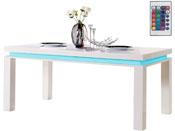 "Table repas LED ""Anna"" - 180 x 90 x 77 cm - Blanc"