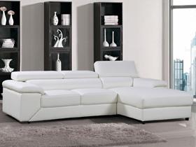 Canapé d'angle cuir/PVC