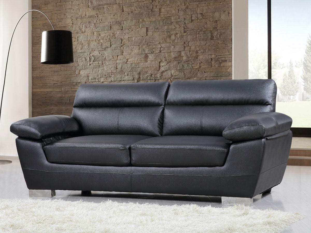 canape cuir reconstitue pvc dallas 3 places no 84907 84909. Black Bedroom Furniture Sets. Home Design Ideas